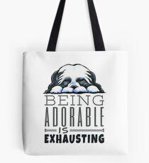 Shih Tzu Being Adorable Tote Bag