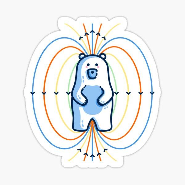 Polar Bear Science Pun Sticker