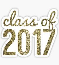 Gold Glitter Class of 2017 Sticker