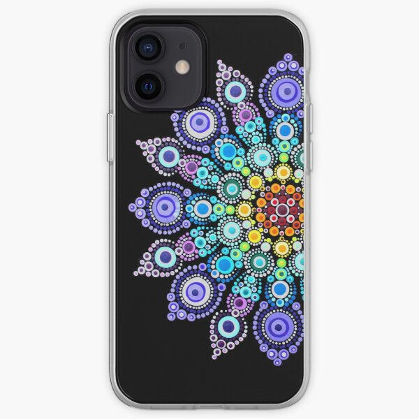 Rainbow Love Mandala iPhone Soft Case