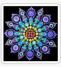 Regenbogen-Liebes-Mandala Sticker