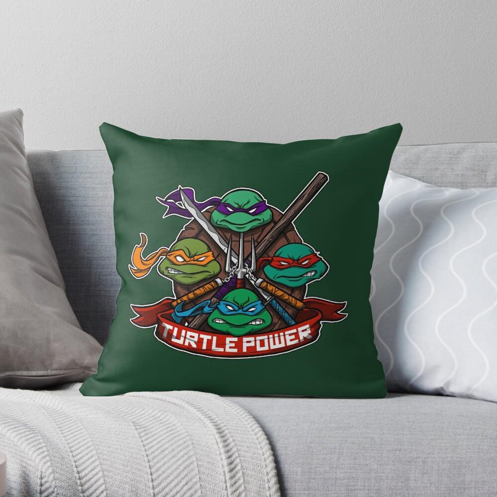 Turtle Power! Dekokissen