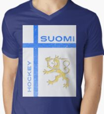 Finland Hockey Men's V-Neck T-Shirt