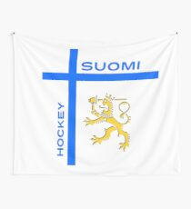 Finland Hockey Wall Tapestry