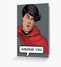 Wiccan is judging you Greeting Card