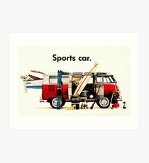 VW kombi sports car  Art Print