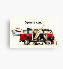 VW kombi sports car  Canvas Print