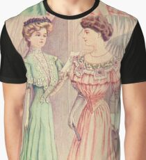 Victorian ladies,reproduction,vintage,shabby,chic,rustic,gruge,worn,old fashioned Graphic T-Shirt