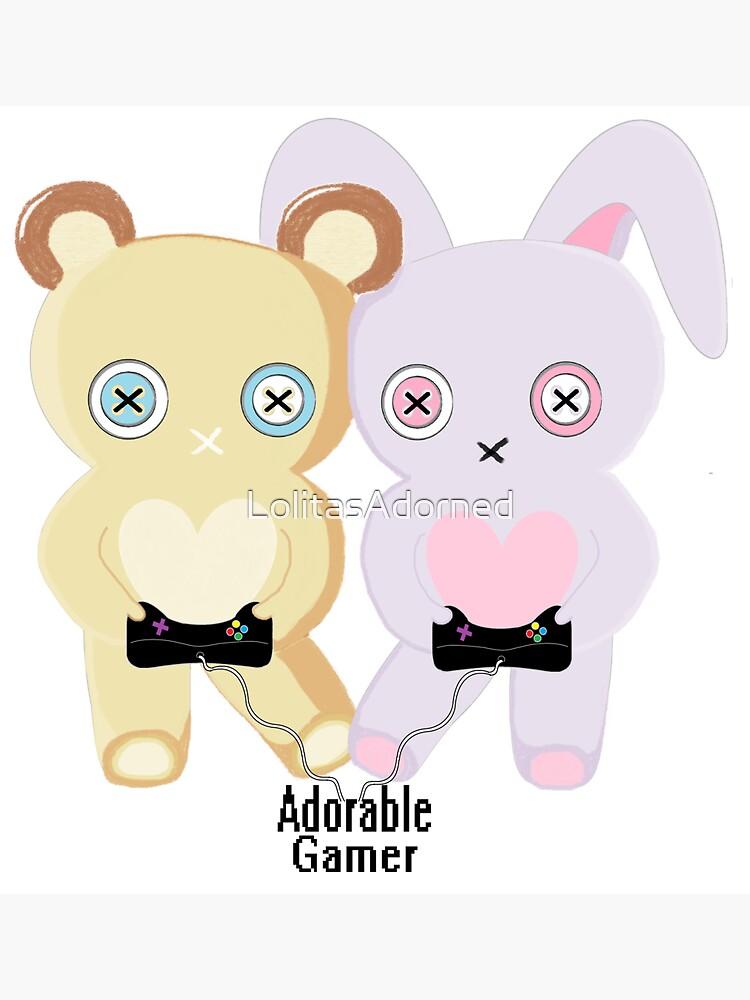 Adorable Gamer ~ Teddy & Bunny by LolitasAdorned
