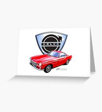 Volvo p1800 vintage sports car Sweden Greeting Card