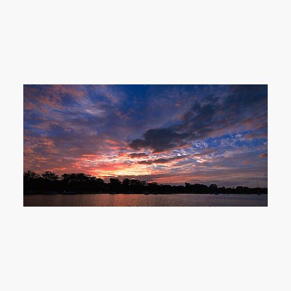 Scattered Cloud Sunrise. Art photo  Photographic Print