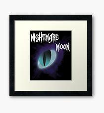 Nightmare Moon Eye Design Framed Print
