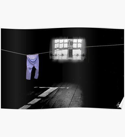 White Light on Blue Pants Poster