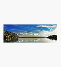 White Cloud Reflections Landscape. Photographic Print