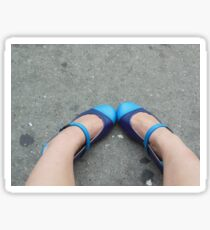 Precious Blue Shoes Sticker