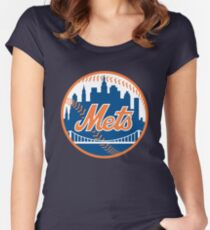 ny mets Women's Fitted Scoop T-Shirt