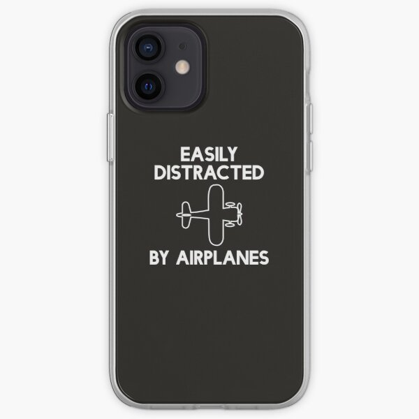Easily Distracted by Airplanes_flight/aviation based design iPhone Soft Case