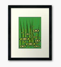 Alien Grass Framed Print