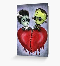 Bride and Franky Voodoo Dolls Greeting Card