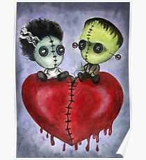 Bride and Franky Voodoo Dolls Poster