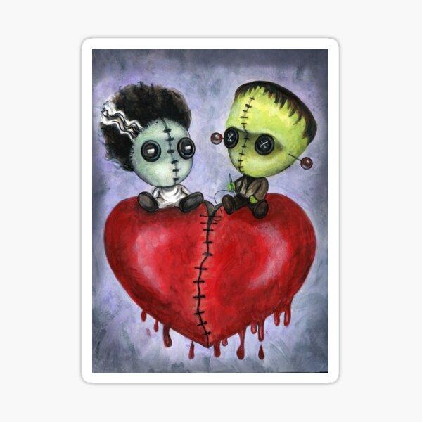 Bride and Franky Voodoo Dolls Sticker