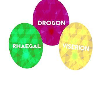 Game Of Thrones Dragon Eggs by Bunniedew