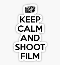 Keep calm and shoot film Sticker