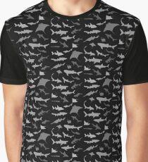 Sharks and Rays: Dark version! Graphic T-Shirt