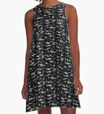 Sharks and Rays: Dark version! A-Line Dress