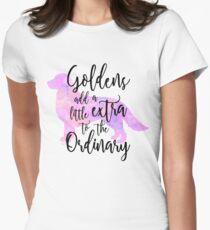 Extraordinary Golden Retriever Watercolor Womens Fitted T-Shirt