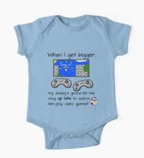 When I Get Bigger Video Games - Geek Gamer Parent One Piece - Short Sleeve