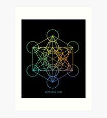 Metatron's Cube Sacred Geometry Art Print