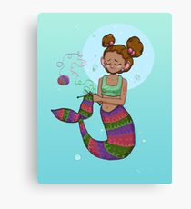Fishes get stitches  Canvas Print