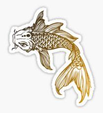 Yellow Coy Fish Sticker Sticker