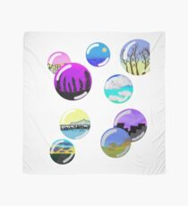 colorful landscape bubbles Scarf
