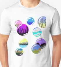 colorful landscape bubbles Unisex T-Shirt