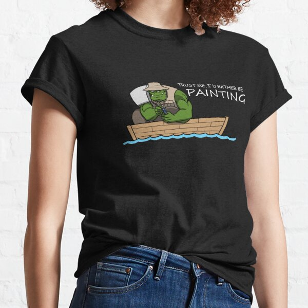 I'd Rather Be Painting (White Text) Classic T-Shirt