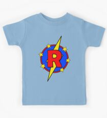 My Cute Little Super Hero - Letter R Kids Tee