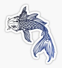 Blue coy fish sticker Sticker