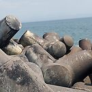 Concrete jacks under lighthouse by geot