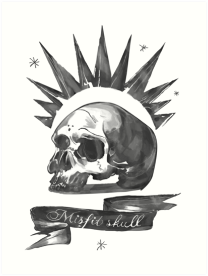 chloe price misfit skull art prints by jokerstoxin redbubble