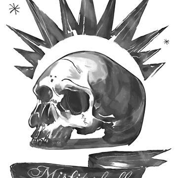Chloe Price - Misfit Skull by JokersToxin