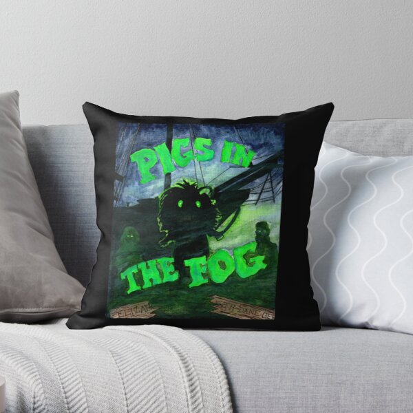 Pigs in the Fog Throw Pillow