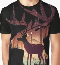 Mystical Deer Graphic T-Shirt