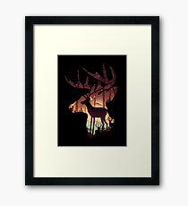 Mystical Deer Framed Print