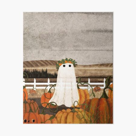 There's a Ghost in the Pumpkins Patch Again Art Board Print