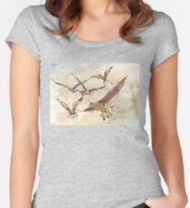 Turn! Turn! Turn! Women's Fitted Scoop T-Shirt
