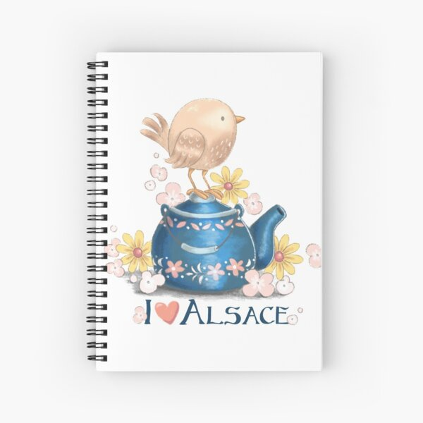 I love Alsace Spiral Notebook