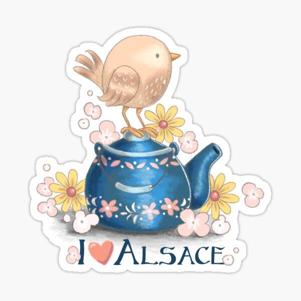 I love Alsace Sticker