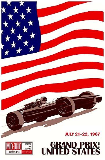 MONACO GRAND PRIX 1967 A4,A3 Vintage Sports Poster Home Wall Art Print